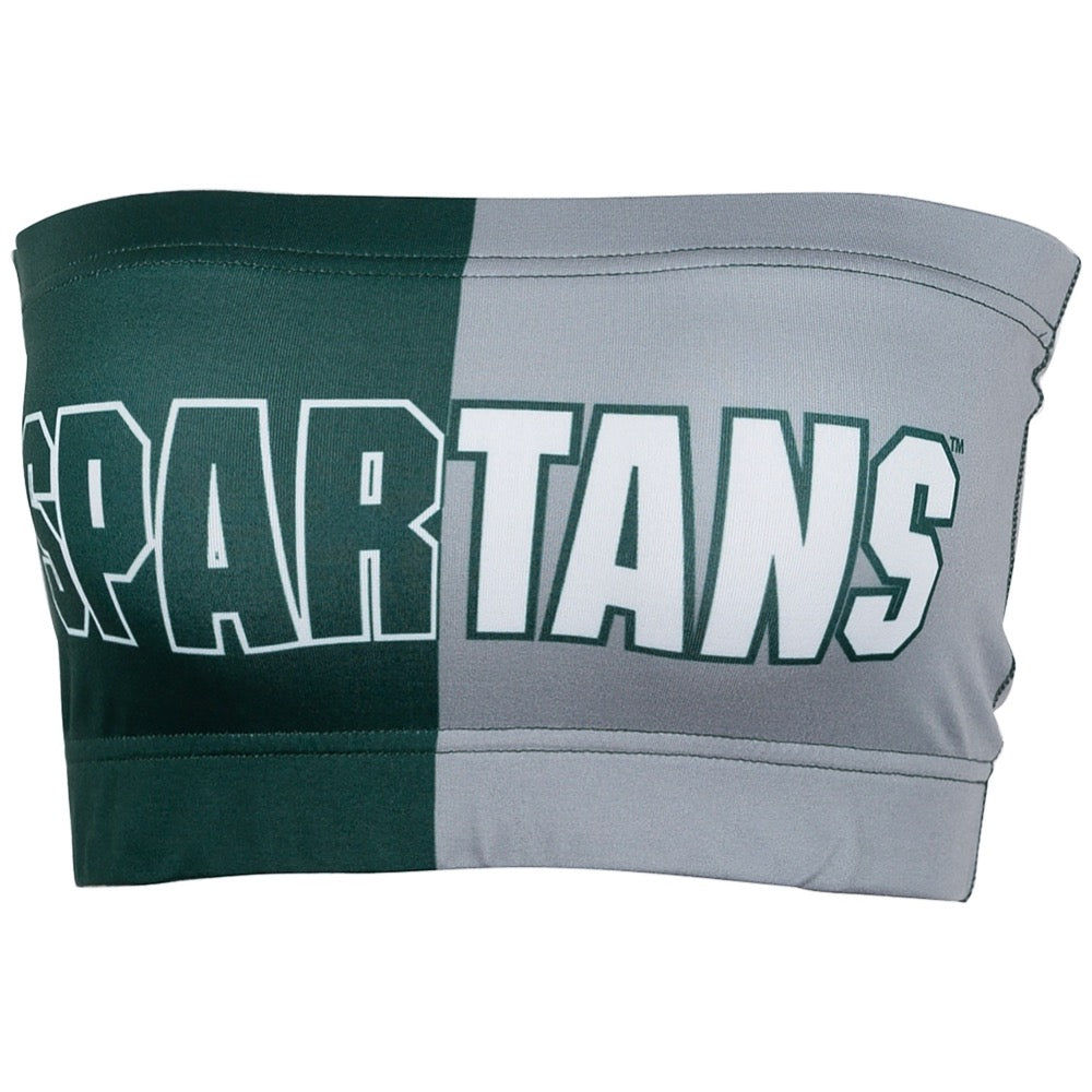 Michigan State Two Tone Bandeau Top