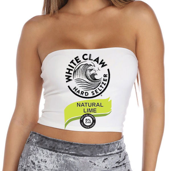 Natural Lime Seltzer Tube Top