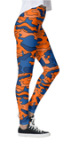 Orange & Blue Camo Leggings