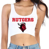 Rutgers White Crop Top