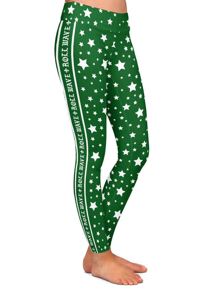Tulane Roll Wave Side Stripe Leggings