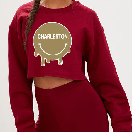College of Charleston Smile Cropped Crewneck