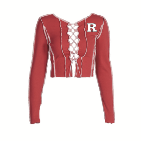 Rutgers Lace Up Knit
