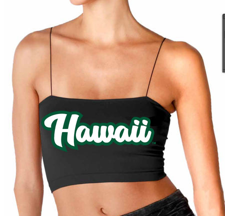 University of Hawaii Black Strap Bandeau Top