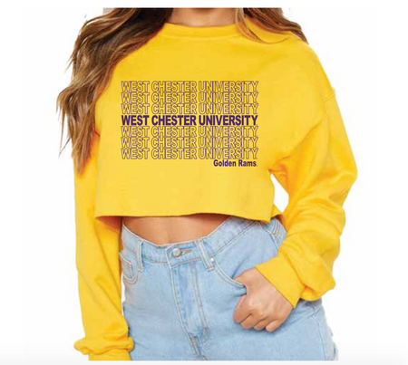 West Chester University Repeat Yellow Crewneck