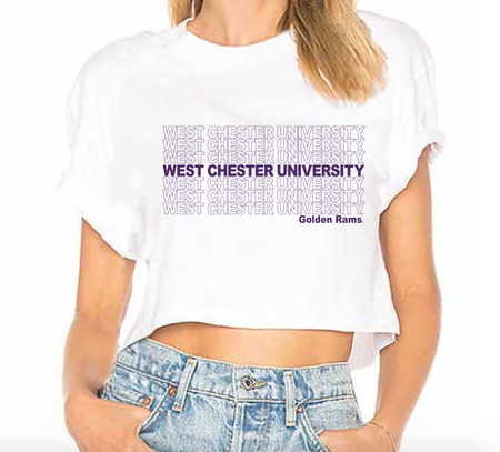 West Chester University Repeat Cropped Tee