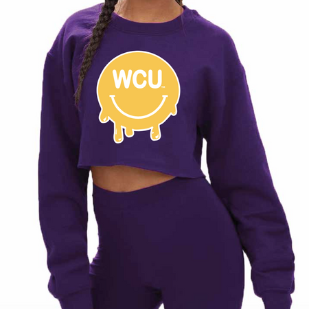 West Chester University Smile Cropped Crewneck