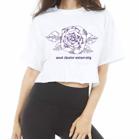 West Chester University Rose Cropped Tee