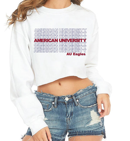 American University Repeat Cropped Crewneck