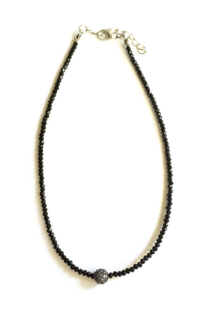 Black Pearl Beaded Choker - lo + jo, LLC