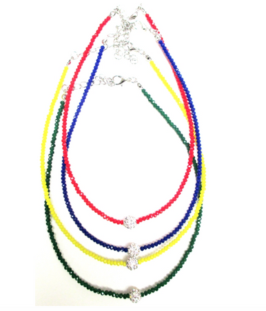 College Beaded Choker - lo + jo, LLC