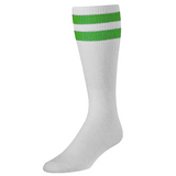 White & Green Tailgate Socks
