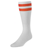 White & Orange Tailgate Socks