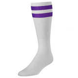 White & Purple Tailgate Socks