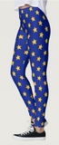 Blue & Yellow Star Leggings - lo + jo, LLC