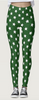 Green & White Star Leggings - lo + jo, LLC