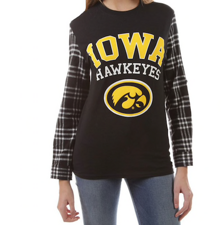 Iowa Hawkeyes Flannel Tee
