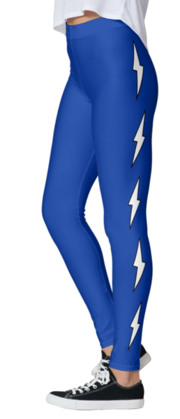 Blue Side Lightning Bolt Leggings - lo + jo, LLC