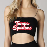 Tampa Spartans Black Strap Bandeau Top