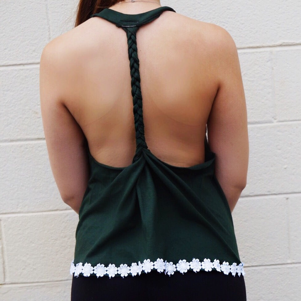 Tulane Braided Back Tank