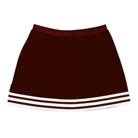 Maroon A-Line Tailgate Skirt