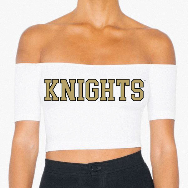 University of Central Florida Knights Off the Shoulder Crop Top