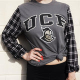 College Flannel Tee - lo + jo, LLC