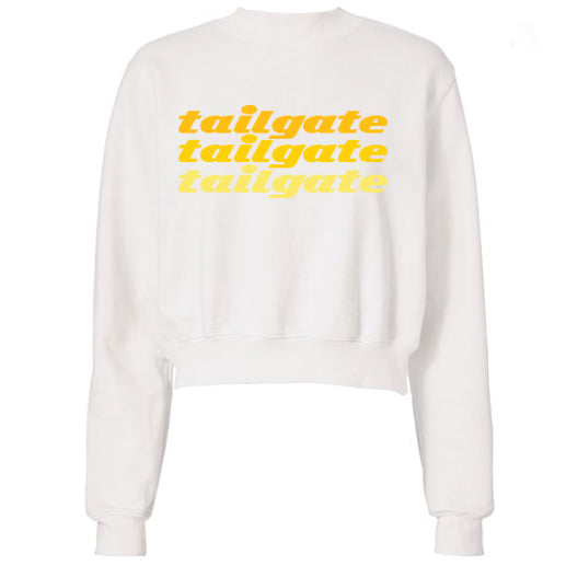 Yellow Tailgate Text Sweatshirt