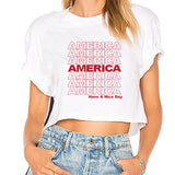 America Have A Nice Day Cropped Tee