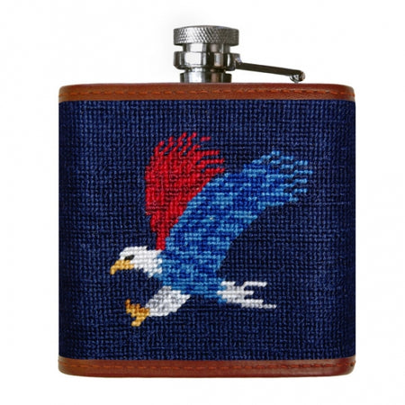Americana Needlepoint Flask - lo + jo, LLC