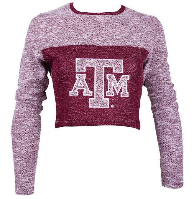 Texas A&M Terry Crop Top