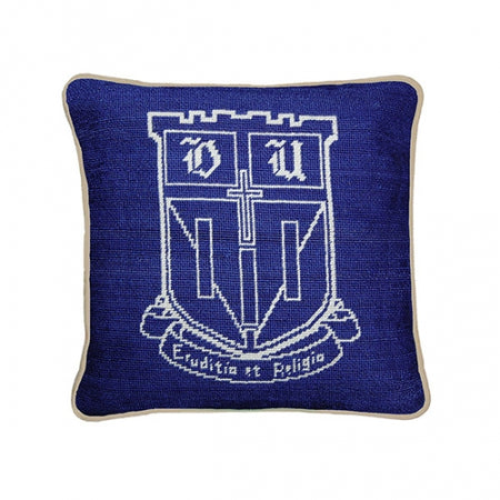 Duke Needlepoint Pillow - lo + jo, LLC