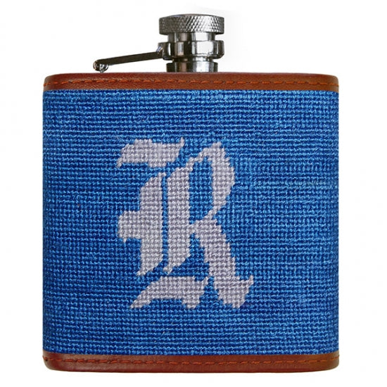 Rice Needlepoint Flask