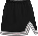 Black & Silver V-Cut Tailgate Skirt - lo + jo, LLC