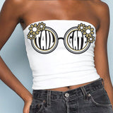 Black & Gold Sunglasses Tube Top - lo + jo, LLC