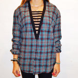 Black Ladder Flannel - lo + jo, LLC