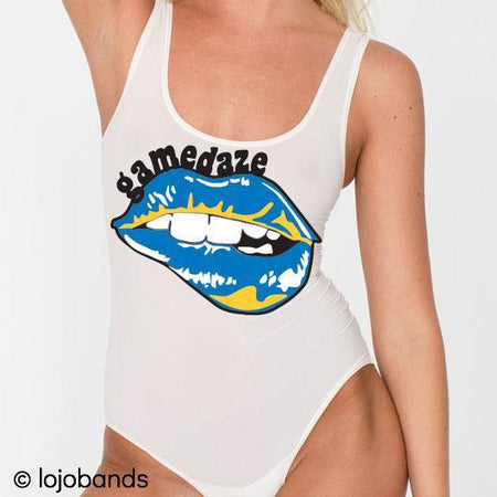 Blue & Yellow Gamedaze Bodysuit - lo + jo, LLC
