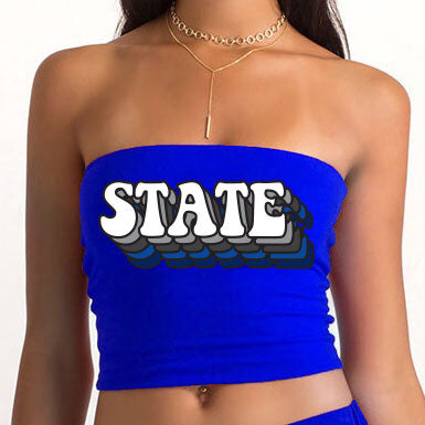 6812f0db45b Retro State Blue Tube Top – lojobands.com
