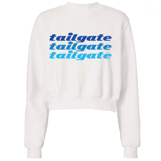 Blue Tailgate Text Sweatshirt