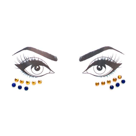 Blue & Yellow Face Jewels - lo + jo, LLC