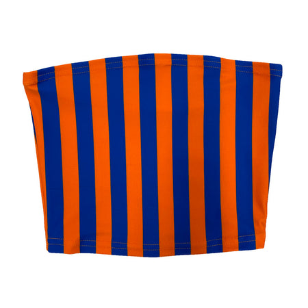 Blue & Orange Striped Tube Top