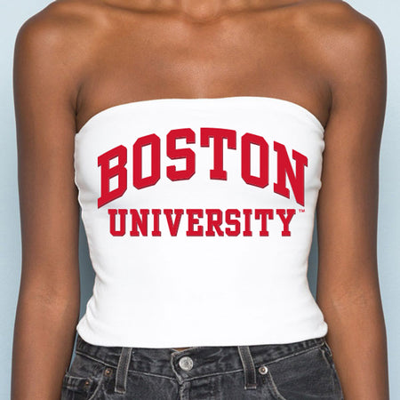 Boston University White Tube Top - lo + jo, LLC
