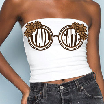 Brown Sunglasses Tube Top - lo + jo, LLC