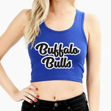 Buffalo Bulls Blue Crop Top