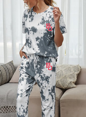Boston University Tie Dye Cozy Set
