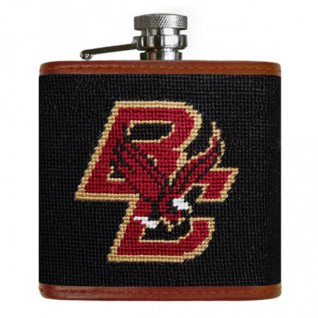 Boston College Needlepoint Flask - lo + jo, LLC