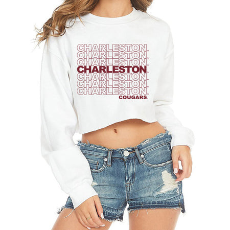 College of Charleston Repeat Cropped Crewneck