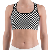 Checkered Sports Bra - lo + jo, LLC