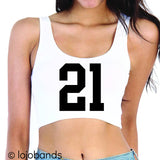 Class of 2021 Scoop Neck Crop Top - lo + jo, LLC