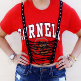 Cornell Tie Up Tee - lo + jo, LLC